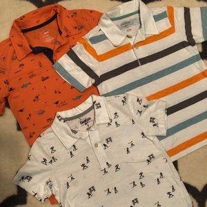 Three Boy's Polo shirts   size 7